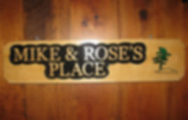 Custom wooden sign with pine tree