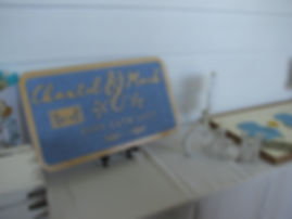Custom Wedding Sign with Muskoka Chairs