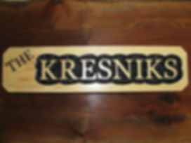 Custom Wood Family Name Sign for Cabin