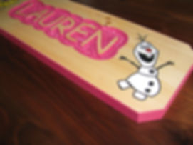 Custom wooden sign for girl's room