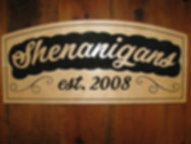 Custom Wooden Sign for Bar
