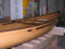 Handcrafted Canoe by Bruce Stuart