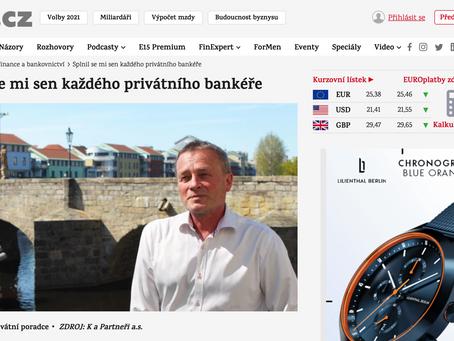 """Jiří Pošusta pro e15.cz: """"Splnil se mi sen každého privátního bankéře"""""""