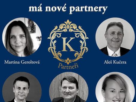 Společnost K a Partneři a.s. má nové partnery