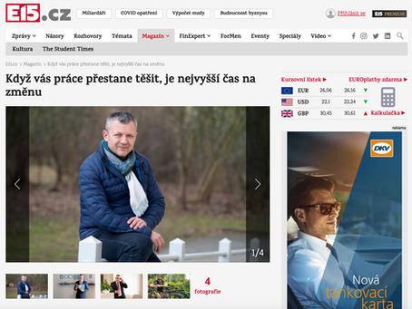 """Pavel Onufer pro e15.cz: """"Když vás práce přestane těšit, je nejvyšší čas na změnu"""""""