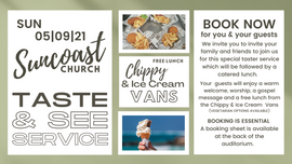 Tast & See Service with catered lunch 05/09/21 - Please book