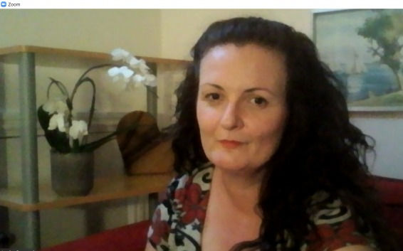 Zoom online counsellor Louise Bungard