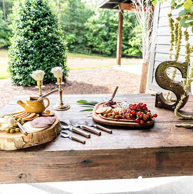 The Pavilion appetizer table