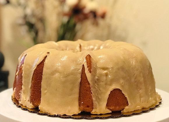 Classic Pound Cake with Caramel Glaze