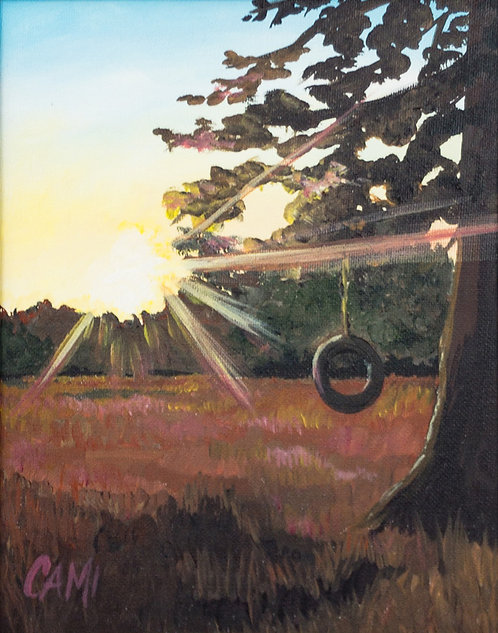 Sunset on the Swing