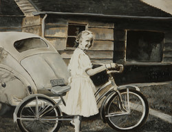 Vicki with her bike
