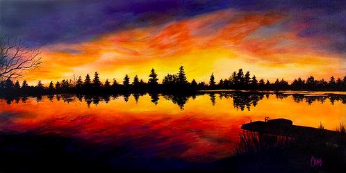 Sunset at Lake Meridian