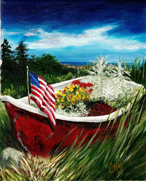 Patriotic Boat