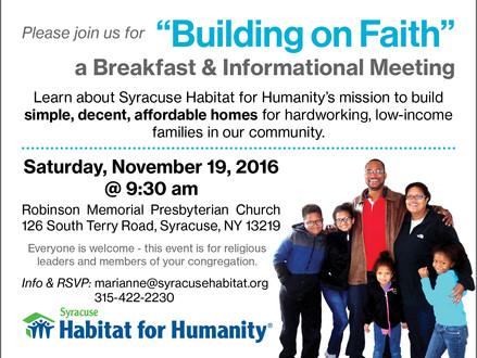 """""""Building on Faith"""" Breakfast"""