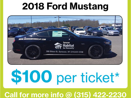 1st Annual Car Raffle - 2018 Tickets Now Available!
