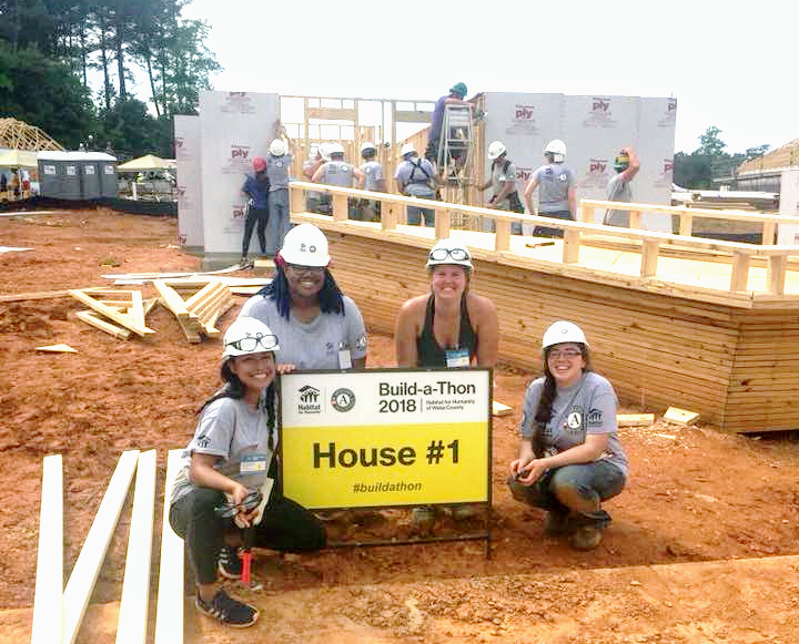 Whitney Garcia, SHFH's AmeriCorps VISTA, pictured far left.