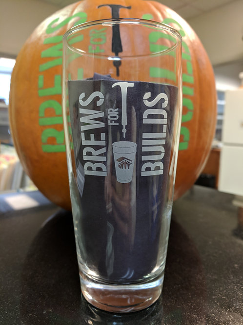 Brews for Builds Pint Glasses