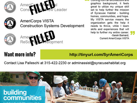 2016 AmeriCorps Positions Available