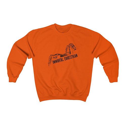 Black Immortal Equestrian Heavy Blend™ Crewneck Sweatshirt
