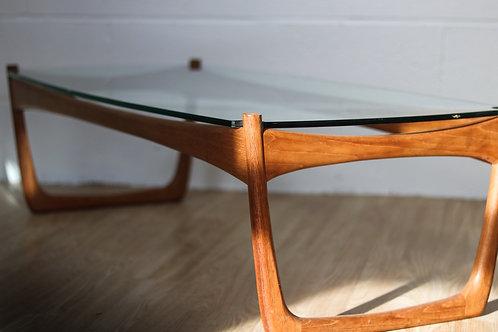 1960's Danish teak coffee table Peter Hvidt
