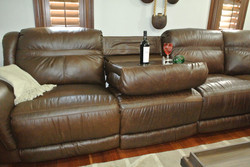 Leather Sectional features