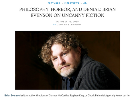 duncan Interviews Brian Evenson