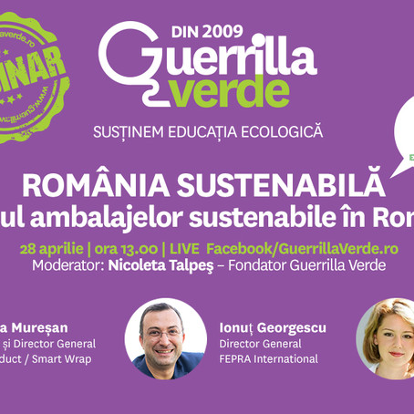 Webinar - Viitorul ambalajelor sustenabile in Romania