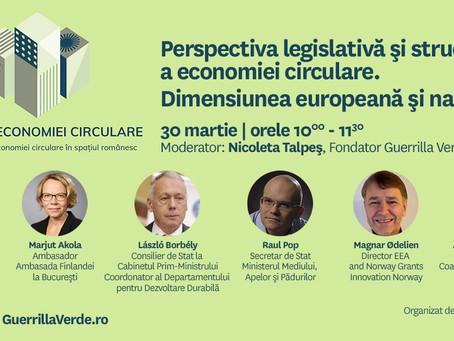 Perspectiva legislativa si structurala a economiei circulare in Romania si Europa