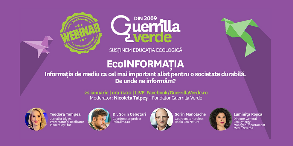EcoINFORMATIA – Informatia de mediu ca cel mai important aliat pentru o societate durabila. De unde ne informam?