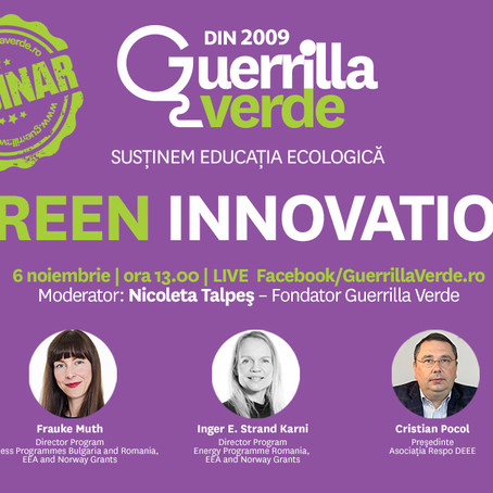 Webinar Green Innovation: de la concept la exemple de bune practici din Norvegia si Romania