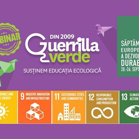 Webinar dedicat SDGs: Consum si Productie Responsabile & Actiune Climatica