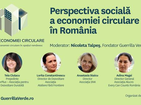 Forumul Economiei Circulare - perspectiva sociala a economiei circulare in Romania
