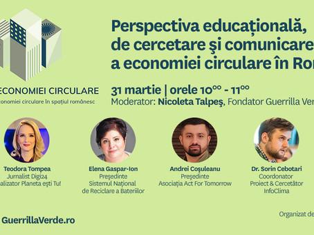 Perspectiva educationala, de cercetare ai comunicare a economiei circulare in Romania
