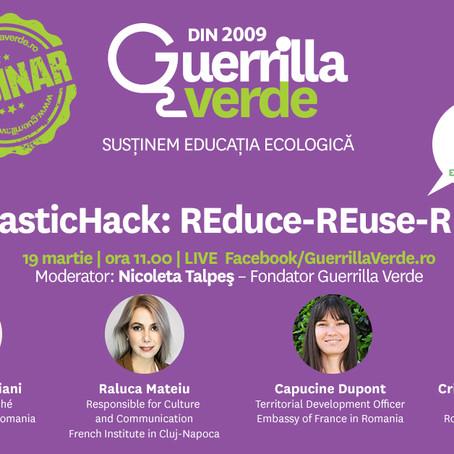 Webinar Guerrilla Verde #REplasticHack: REduce-REuse-REcycle