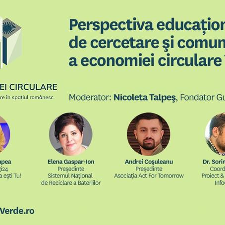 Perspectiva Educationala, de Cercetare si Comunicare a economiei circulare in Romania