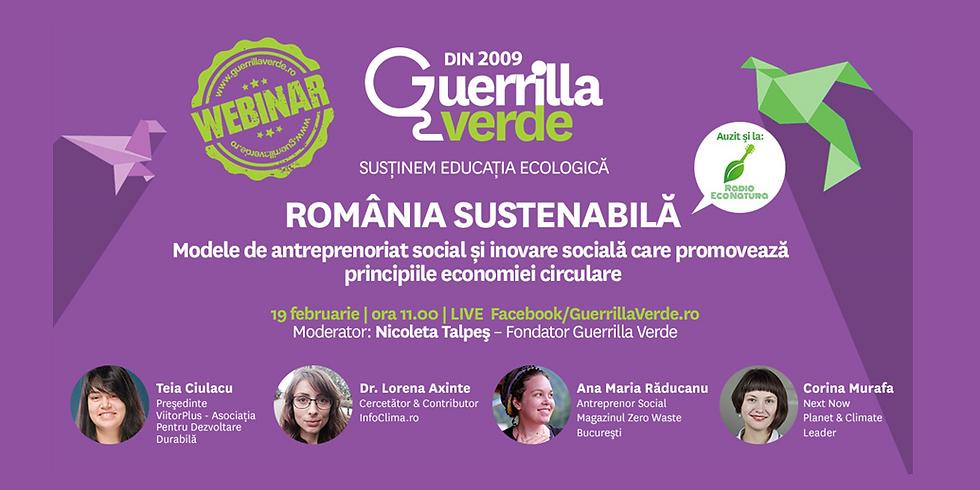 Romania sustenabila – Modele de antreprenoriat social si inovare sociala care promoveaza principiile economiei circulare