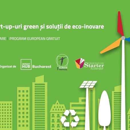 Webinar Oportunitati de finantare pentru startup-urile green sau cu solutii de ecoinovare