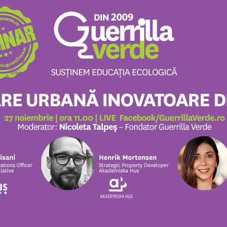 Webinar Guerrilla Verde: Dezvoltare urbană inovatoare din Suedia