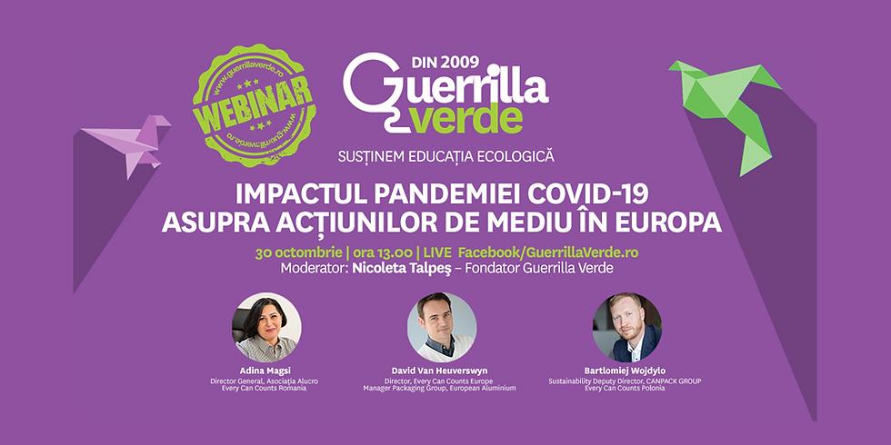 Impactul Pandemiei Covid-19 asupra acţiunilor de mediu în Europa
