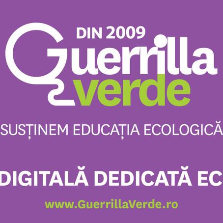 Astăzi se lansează GuerrillaVerde.ro, platformă online dedicată educaţiei ecologice