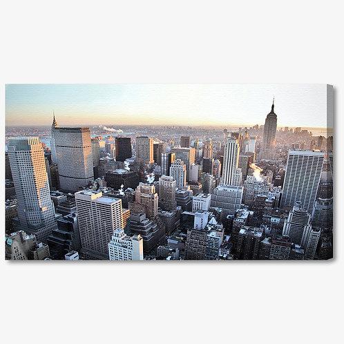 M766 - Quadro moderno NYC vista grattacieli dall'alto