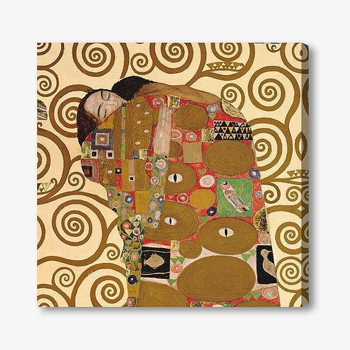 M072 - Quadro classico Klimt Abbraccio