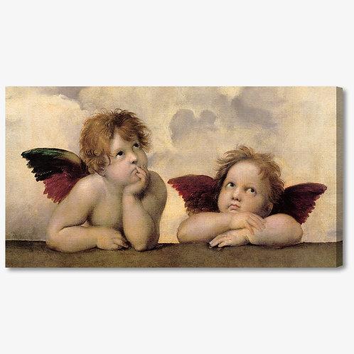 M076 - Quadro classico angeli di Raffaello