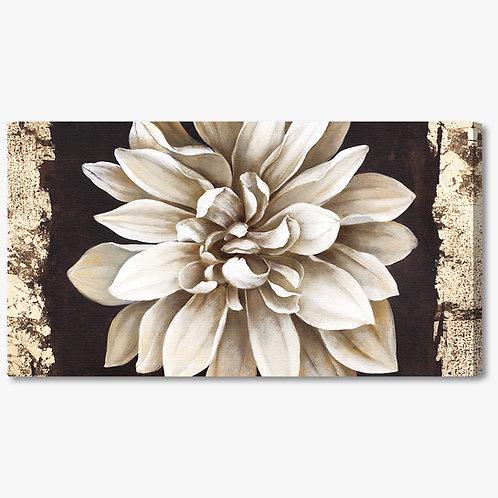 M396 - Quadro moderno elegante fiore bianco