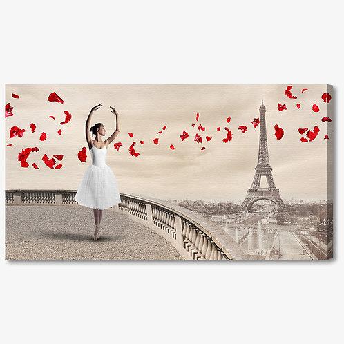 M1326 - Quadro moderno Parigi Torre Eiffel ballerina
