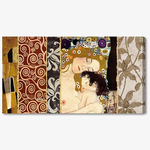 M250 - Quadro classico Klimt collage maternità