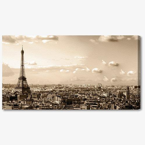 M311 - Quadro moderno Parigi Torre Eiffel seppia