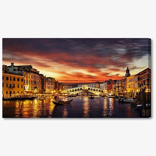 M1272 - Quadro moderno Venezia colori caldi