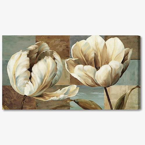 WA251 - Quadro moderno fiori bianchi