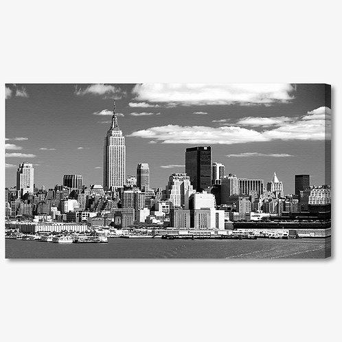 M035 - Quadro moderno NYC grattacieli bianco e nero